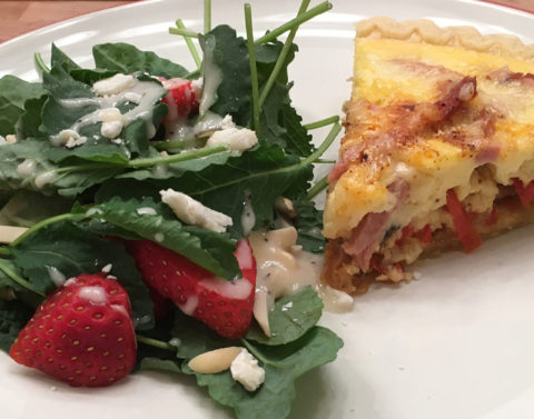 Potato Ham Quiche