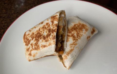Plantain Lentil Burrito